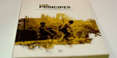 """Portada del libro """"Los Príncipes"""", del escritor salvadoreño Carlos Anchetta. Fotografía de Ricardo Corea."""